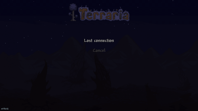 terraria lost connection