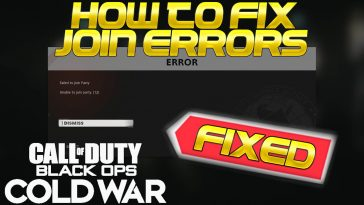 Black Ops Cold War Unable to Join Party Error