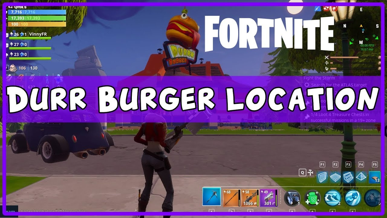 Durr Burger Fortnite Season 5 Chapter 2 Durr Burger And Durr Burger Food Truck Locations In Fortnite The Important Enews