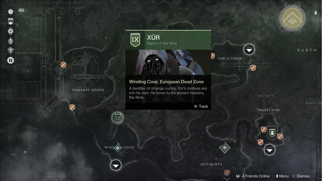 What is Destiny 2 Xur Location Jan 8 To Jan 12