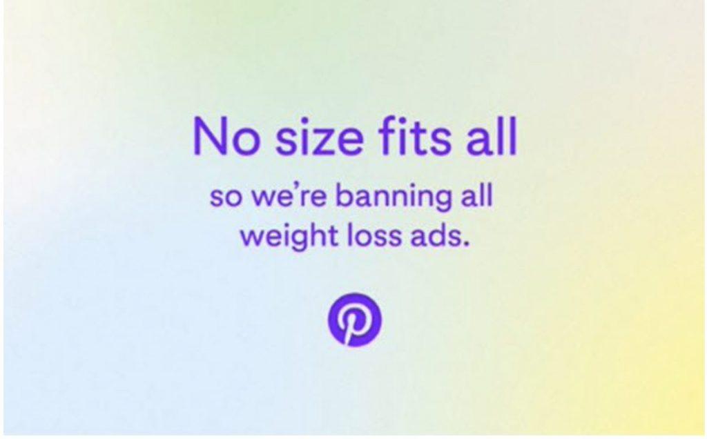Pinterest Bans Weight Loss Ads
